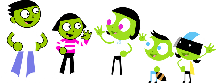 PBS Kids Digital Art - 1999 Meets 2013
