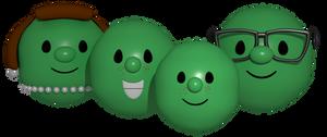 VeggieTales - Pea Family Models Render