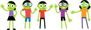 PBS Kids Digital Art -  Map Puzzle Characters