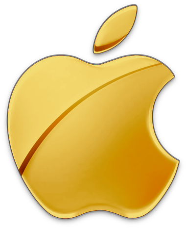 yellow apple logo - photo #5