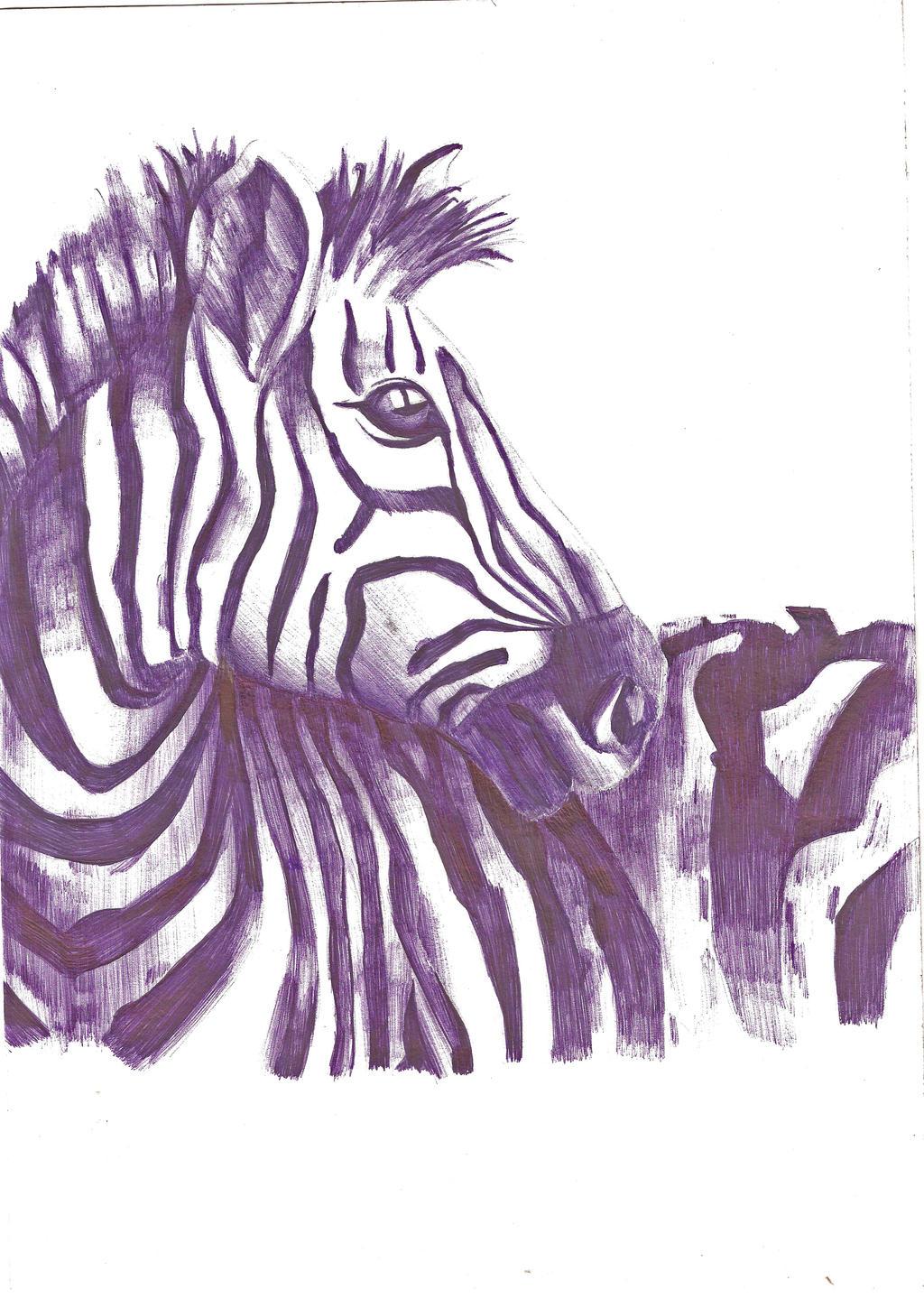 Zebra Profile Art