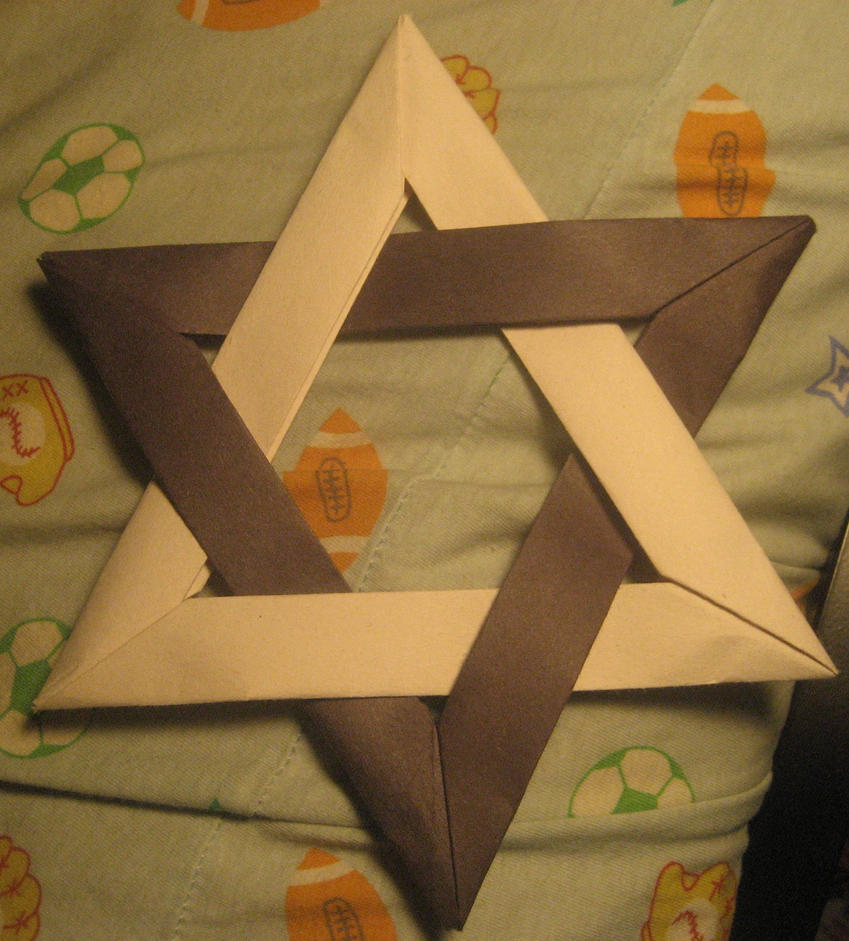 origami star of david 2 by musicmixer112 on deviantart