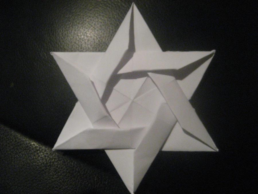 origami star of david by musicmixer112 on deviantart