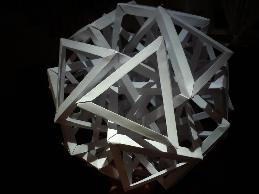 Ten Interlocking Triangular Prisms by musicmixer112