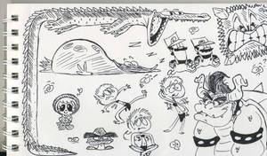 doodle-y pen doodles by RedBlooper