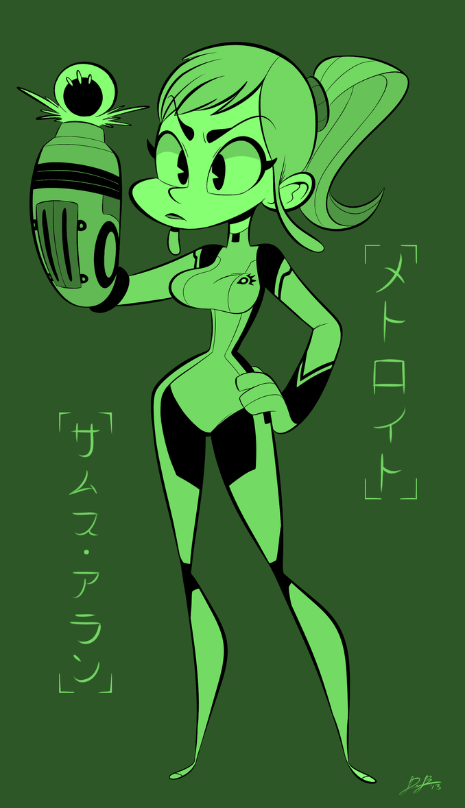 Gameboy color palettes - Gameboy Green Samus By Redblooper