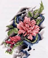 Dragon Rose by xX----Xx