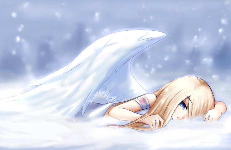 Fallen Snow Angel By Amuria On DeviantArt