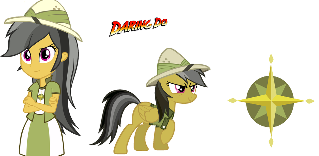 My Little Pony Coloring Pages Daring Do : Mlp daring do pony and equestria girls by jhock on