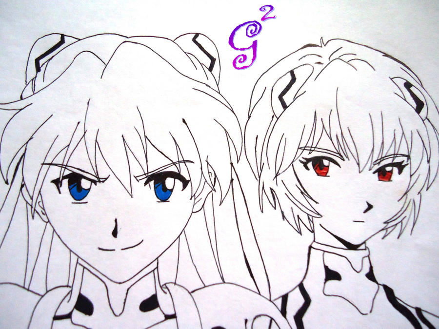 Rei and Asuka-Evangelion by SugarCotton10
