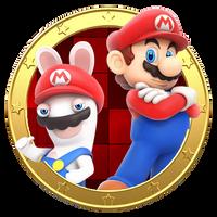 Mario and Rabbid Mario x MP:SR portrait by SonicAlexanderDX97