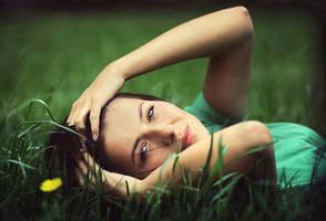 whole in grass by AlicjaRodzik