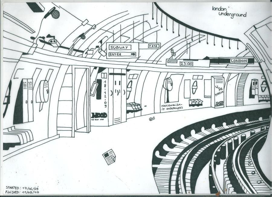 Station du métro londonien vu par Spirit1993@deviantart