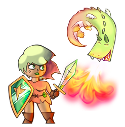 Dragon And Knight Chick