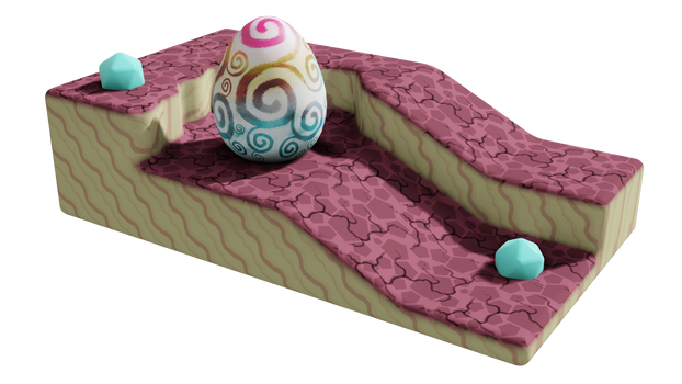 Whimsical Egg Scene
