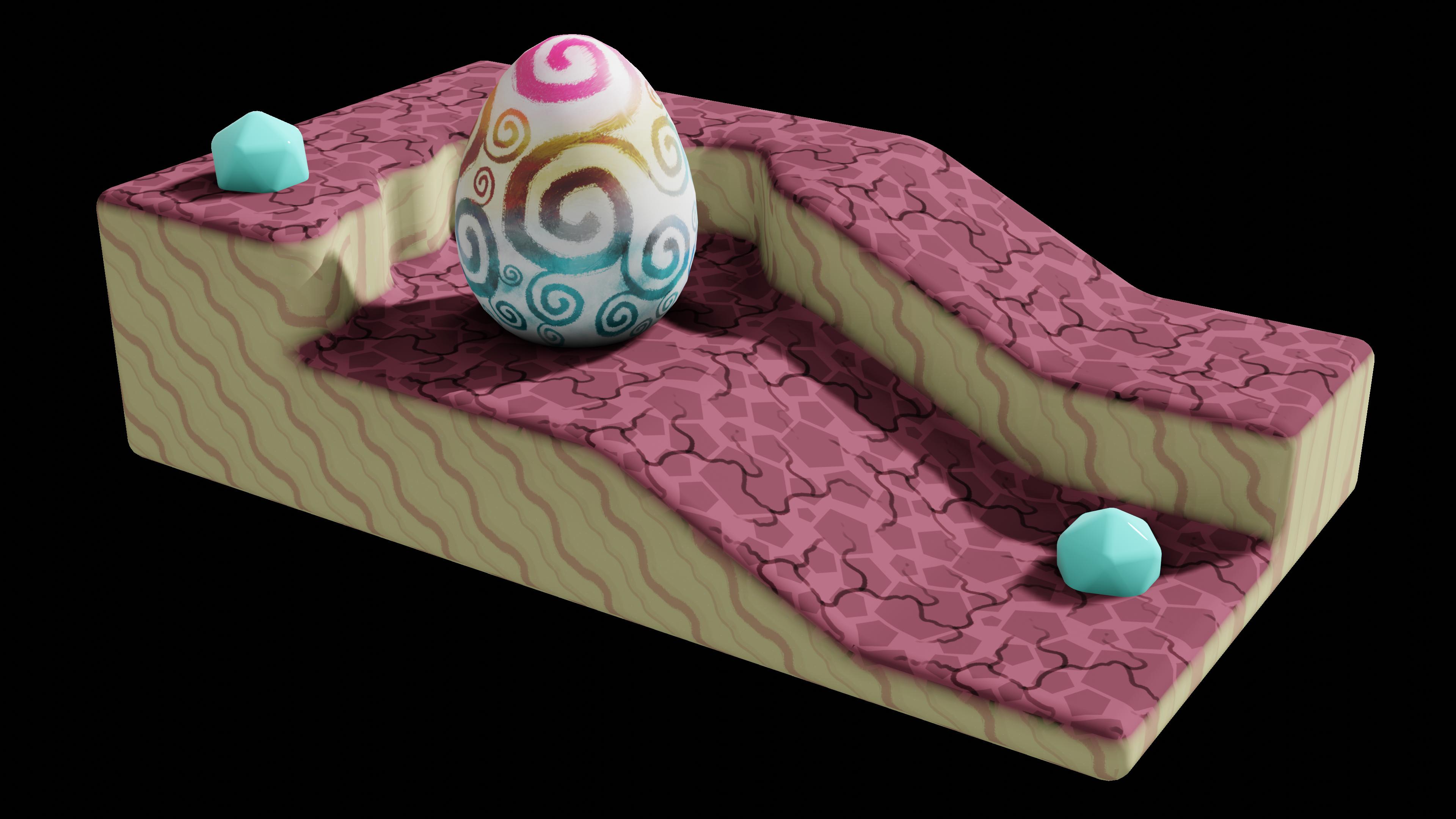 Whimsical Egg Scene