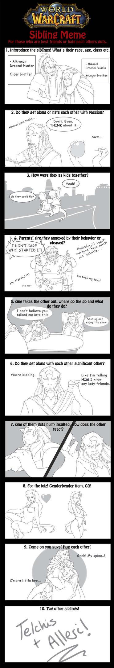Warcraft Sibling Meme - Alkrenon and Mikaeel by Iseijin