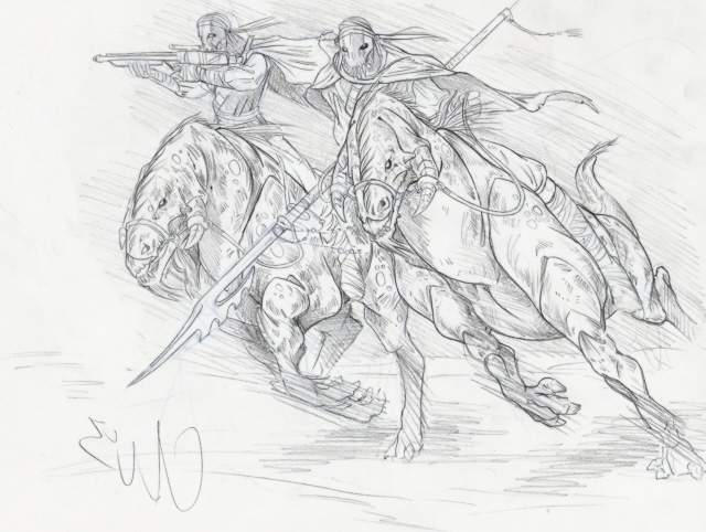 Kaleesh Cavalry Charge by Iseijin