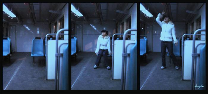 me, in a train...