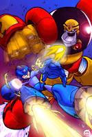 Mega Man retouched by Geiger2k5