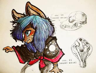 Kitsune watercolor study