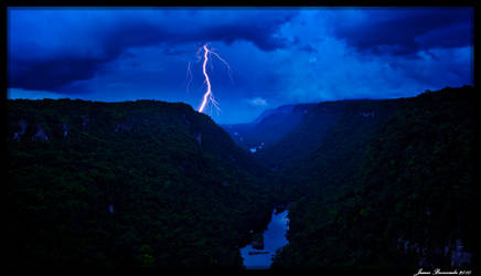 Potaro Valley Lightning by jmbroscombe
