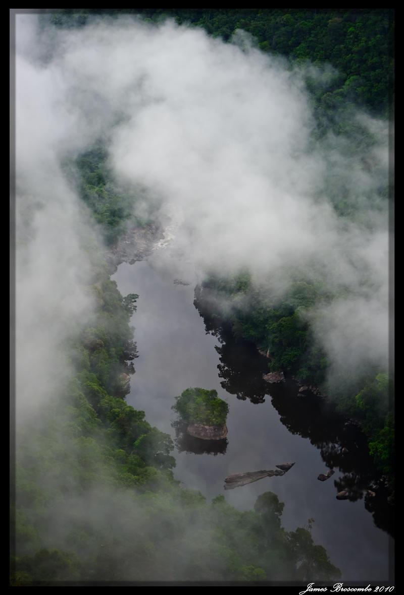 Kaiteur in Mist 3 by jmbroscombe