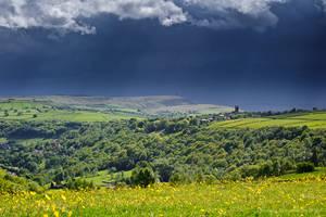 Rainstorm over Heptonstall by jmbroscombe