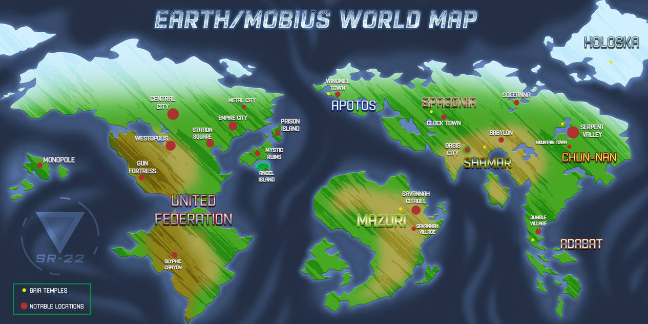 Sonic Universe   World Map .:OPEN PROJECT:. by SilverRevolt on