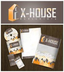 x-house logo and ci