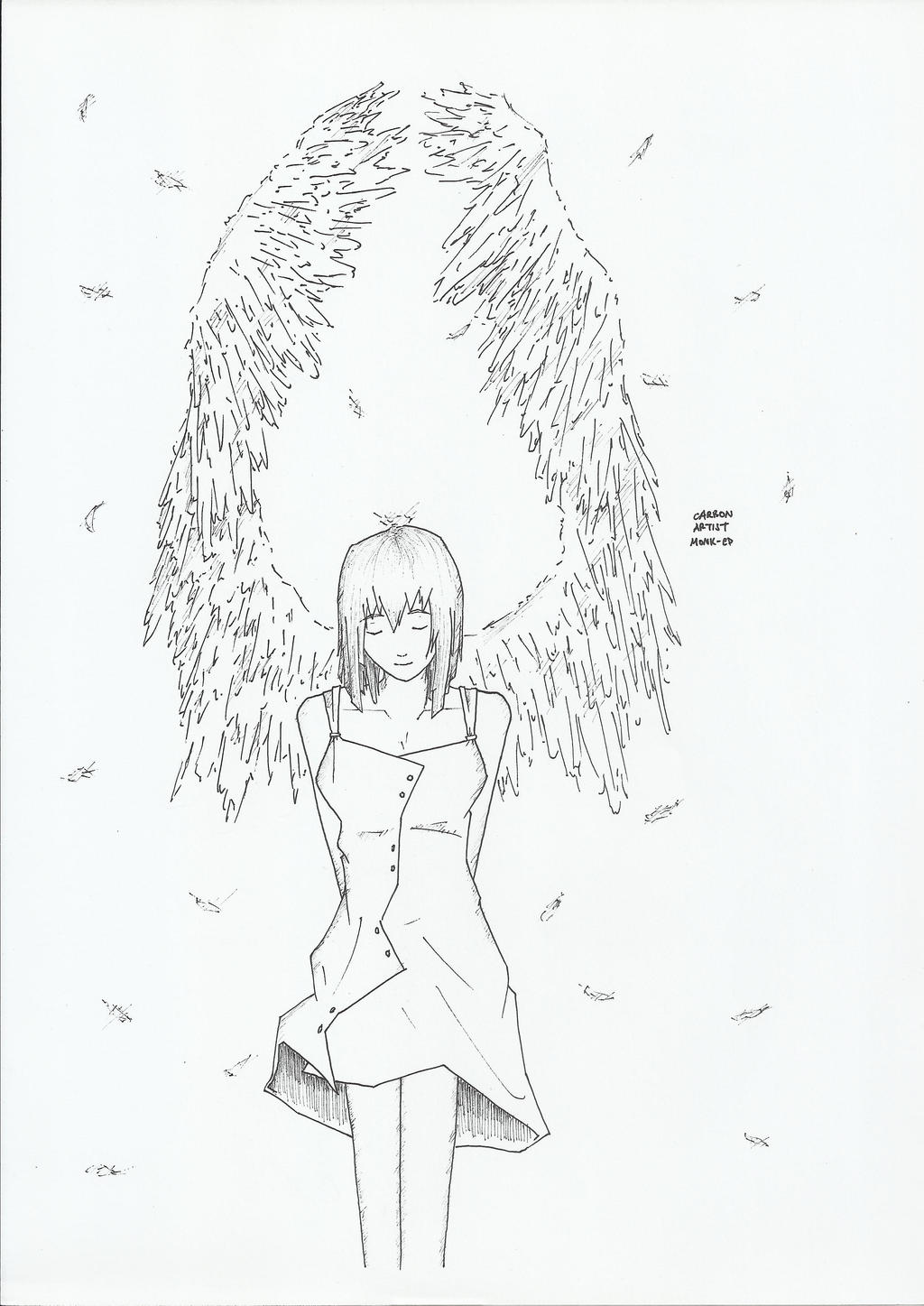 Girl With Wings by carbonartist