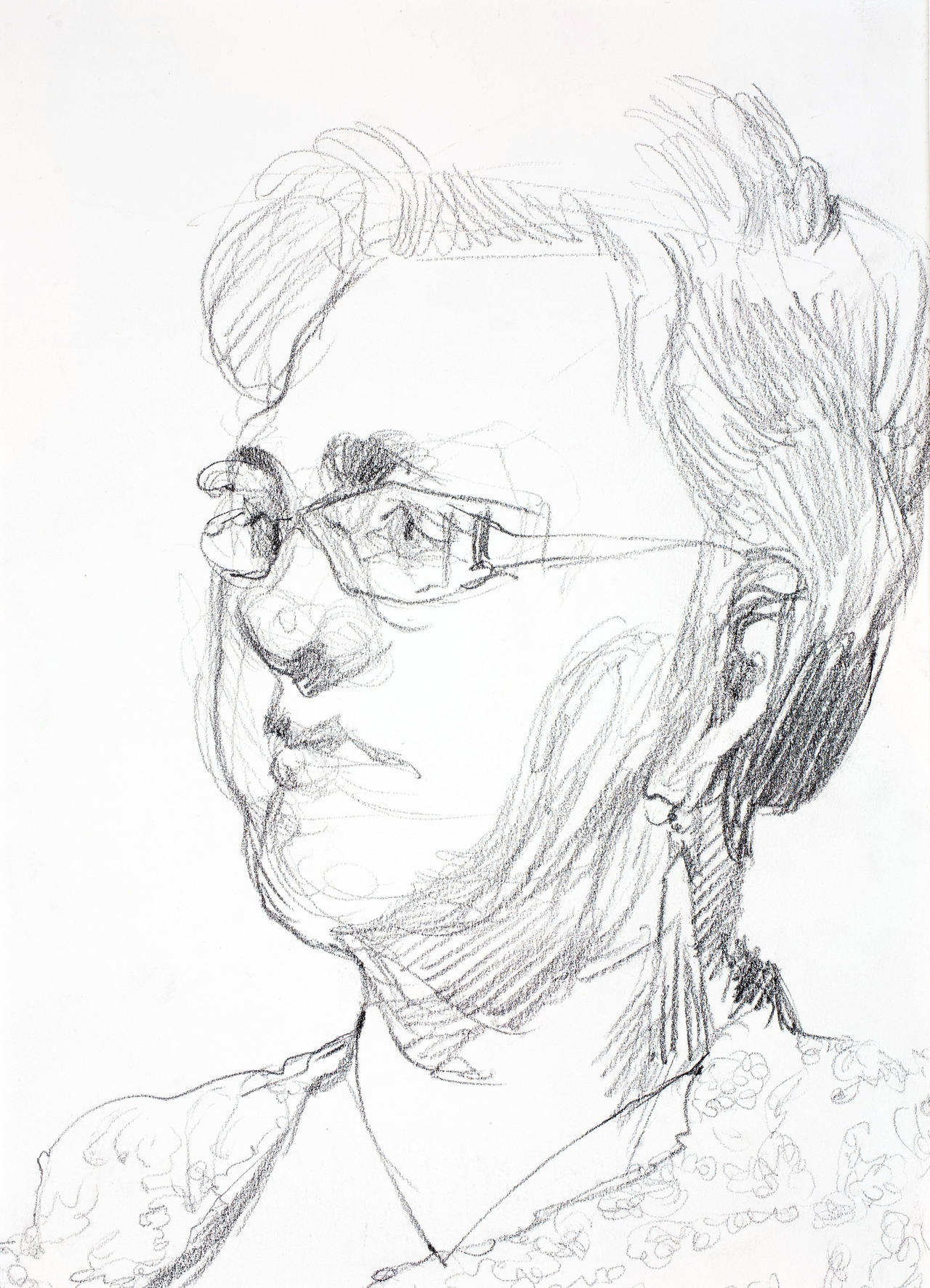 Three Quarter Profile Live Drawing