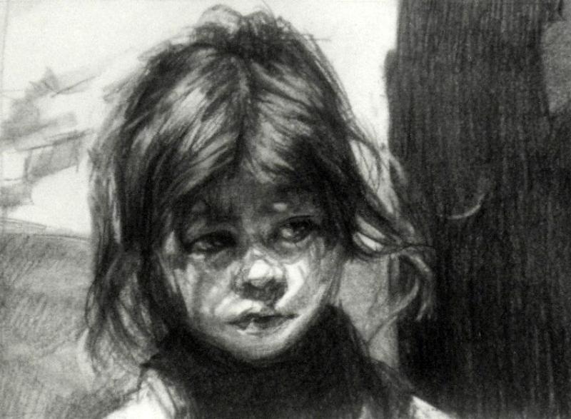 Malaysian Girl Drawing