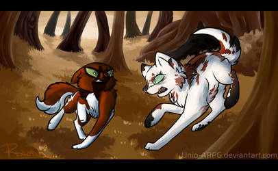 [PvP] Battle in the forest by Risketch