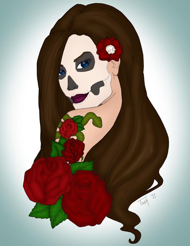 Skullface Lady by aprilk6366