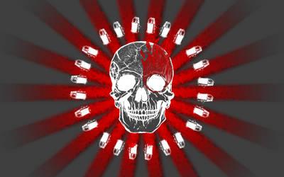 Bullet Ringed Skull by odinstrike