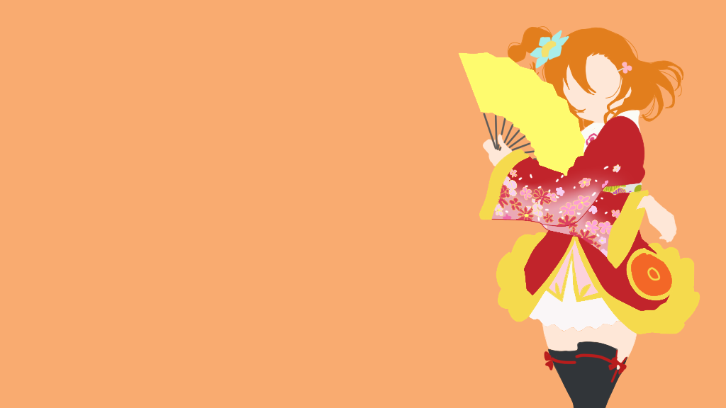 Wallpaper Love Live Tumblr : Honoka Kousaka [Minimalist] by magical-minimal on DeviantArt