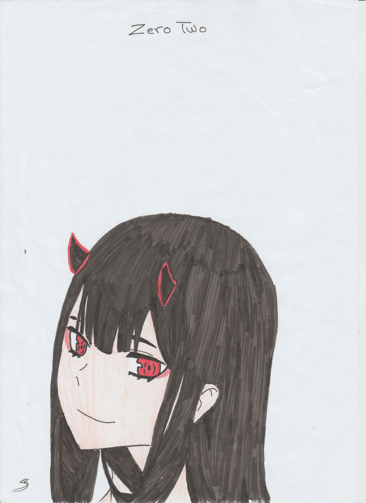 Zero Two With Black Hair By Loliwhoa On Deviantart