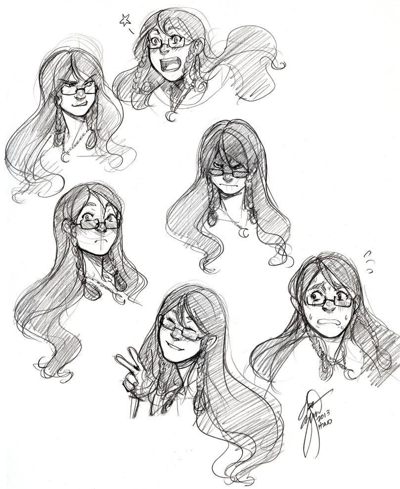 (Rokudai) - Katrina Kesuk Expressions (HinoKit) by Destiny-Smasher