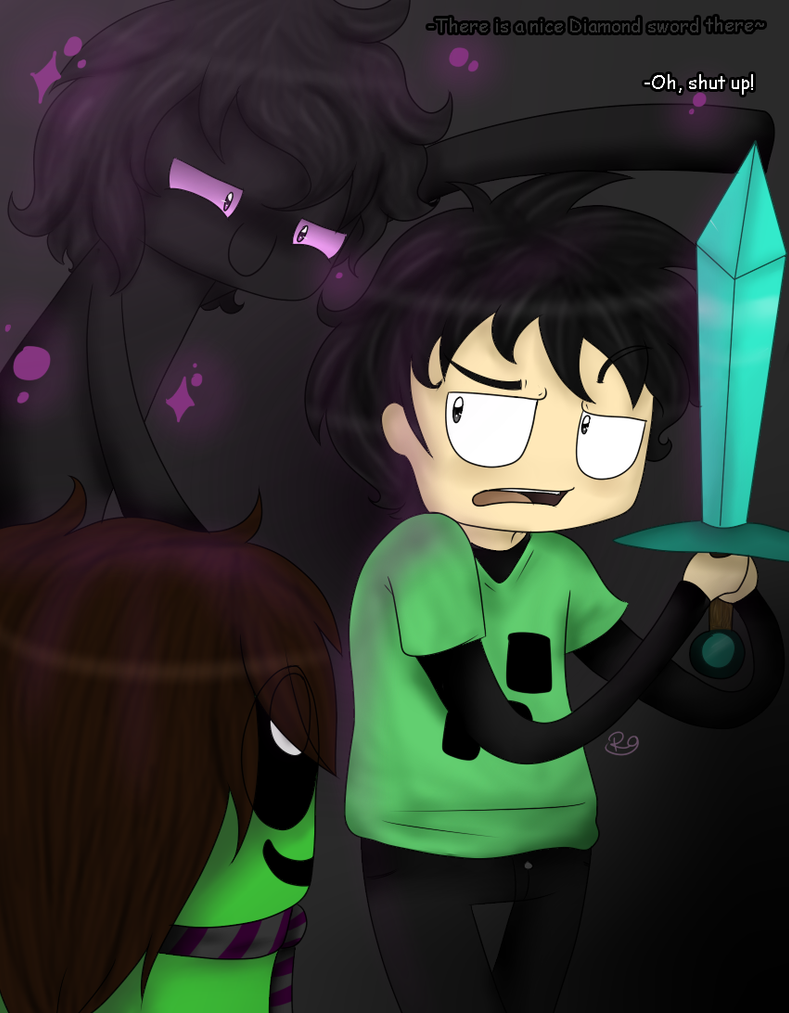 .:FanArt- There is a nice Diamond sword there:. by Insane-Feyaan