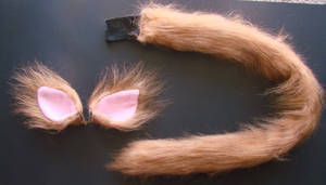 Orange Cat Ears and Tail Set