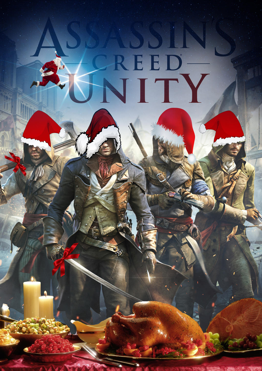 Assassin's Creed Unity christmas by praem on DeviantArt