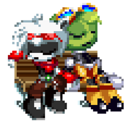 Sleepy Bench Boyfriends by Spookyrus