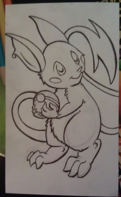 Raichu Sketch :P by Elenaya