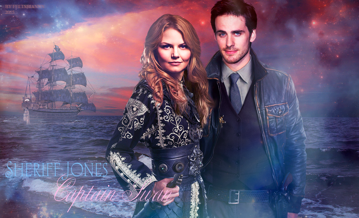 Captain Swan and Sheriff Jones by feltsbiannn