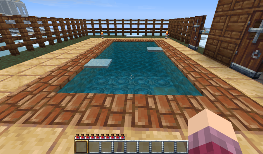 Minecraft Swimming Pool By Ferfer74 On Deviantart