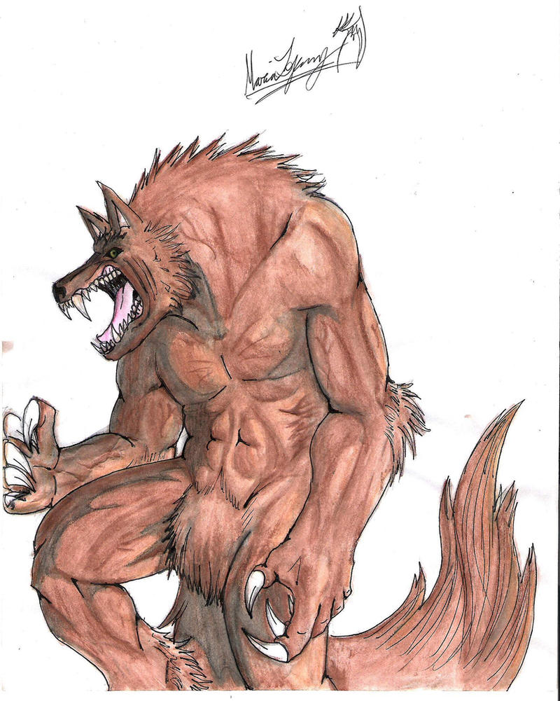 just a werewolf by TheLaughingChimera