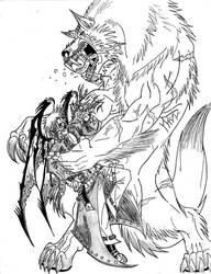 Werewolf vs. Vampire by TheWolfMaria