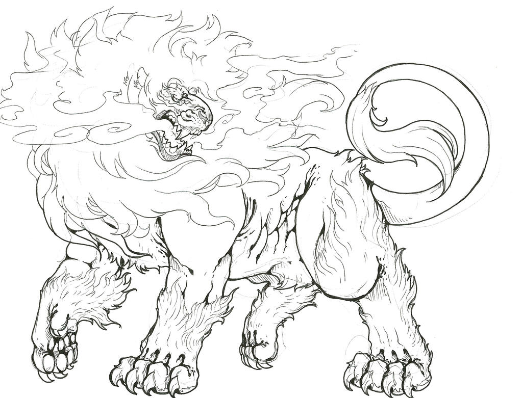 Male pyroar pokemon coloring pages coloring pages for Pyroar coloring pages