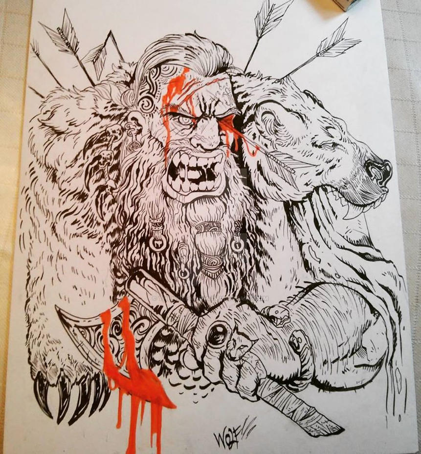 Wounded Berserker Viking By Thewolfmaria On Deviantart